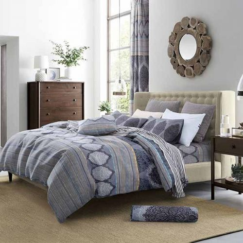 Oxford Chandelier Complete Duvet Set - Grey